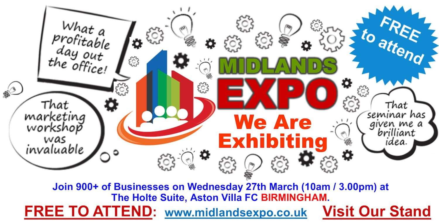 We're exhibiting at Midlands Expo