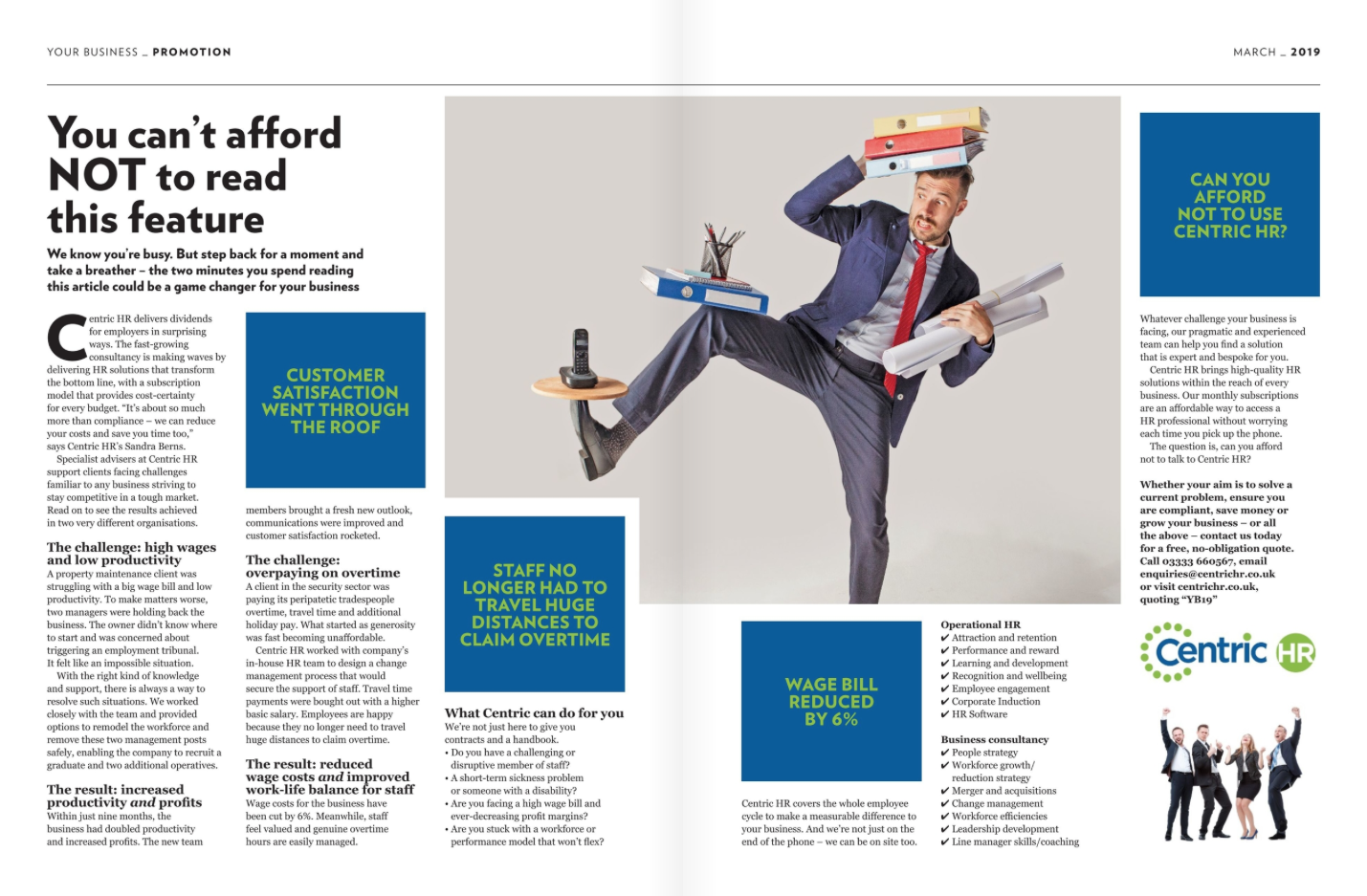 Your Business Magazine Feature - Centric HR